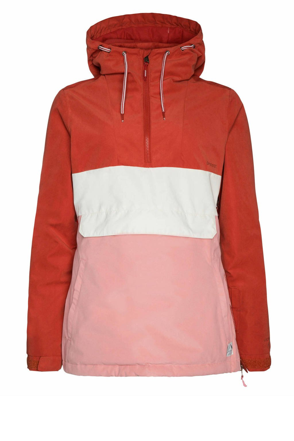 Protest outdoor anorak Ann roze/rood, Rocky