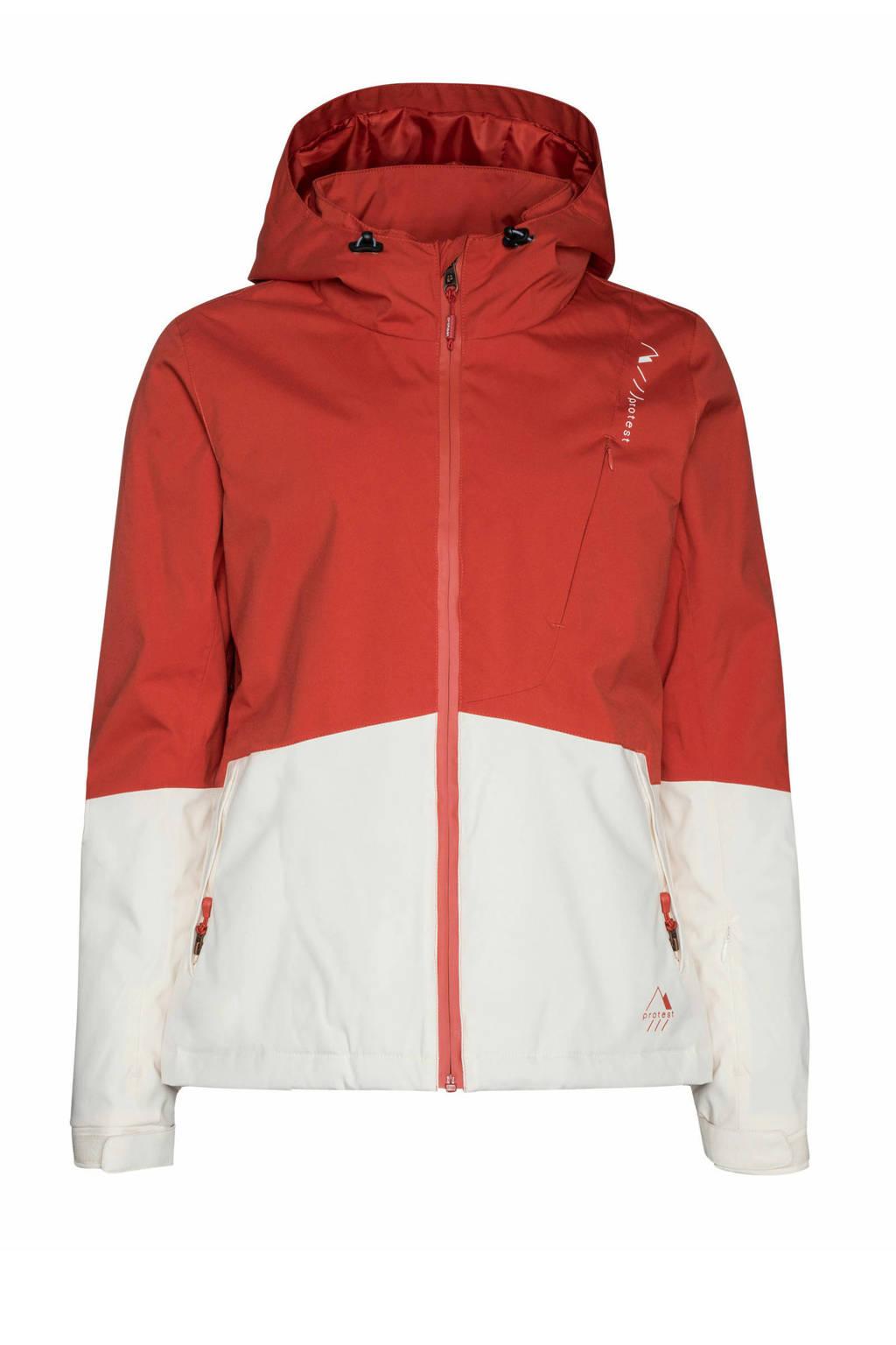 Protest ski-jack Chica rood/wit, Rocky