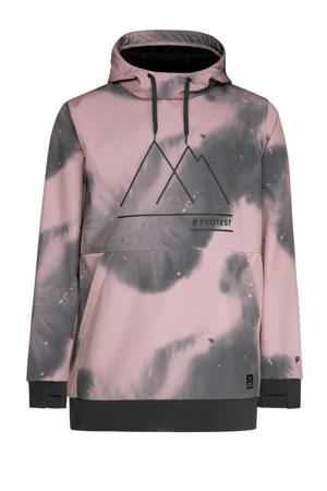 ski-anorak Benz roze/grijs