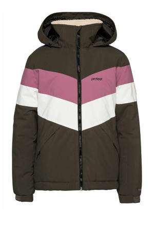 ski-jack Fudge groen/roze/wit