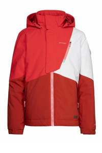 Protest ski-jack Cherry rood/wit, Happy