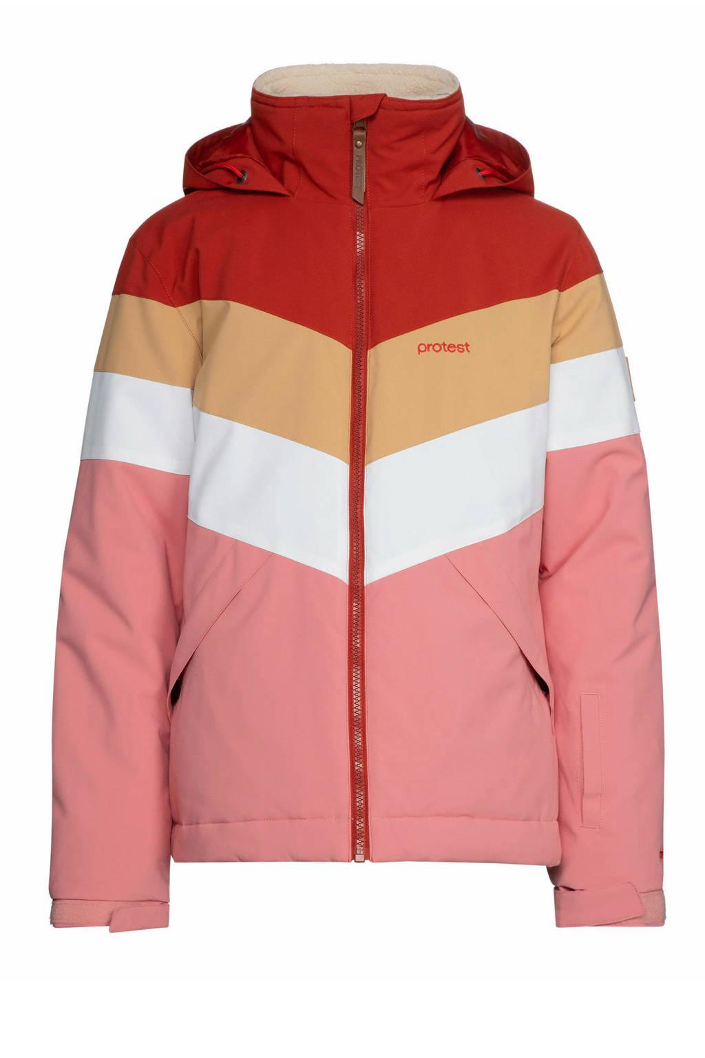 Protest ski-jack Fudge roze/rood, Think Pink