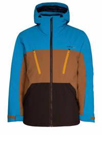 Protest Ultra ski-jack blauw/bruin/zwart, Beige