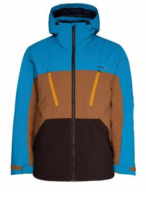 Ultra ski-jack blauw/bruin/zwart