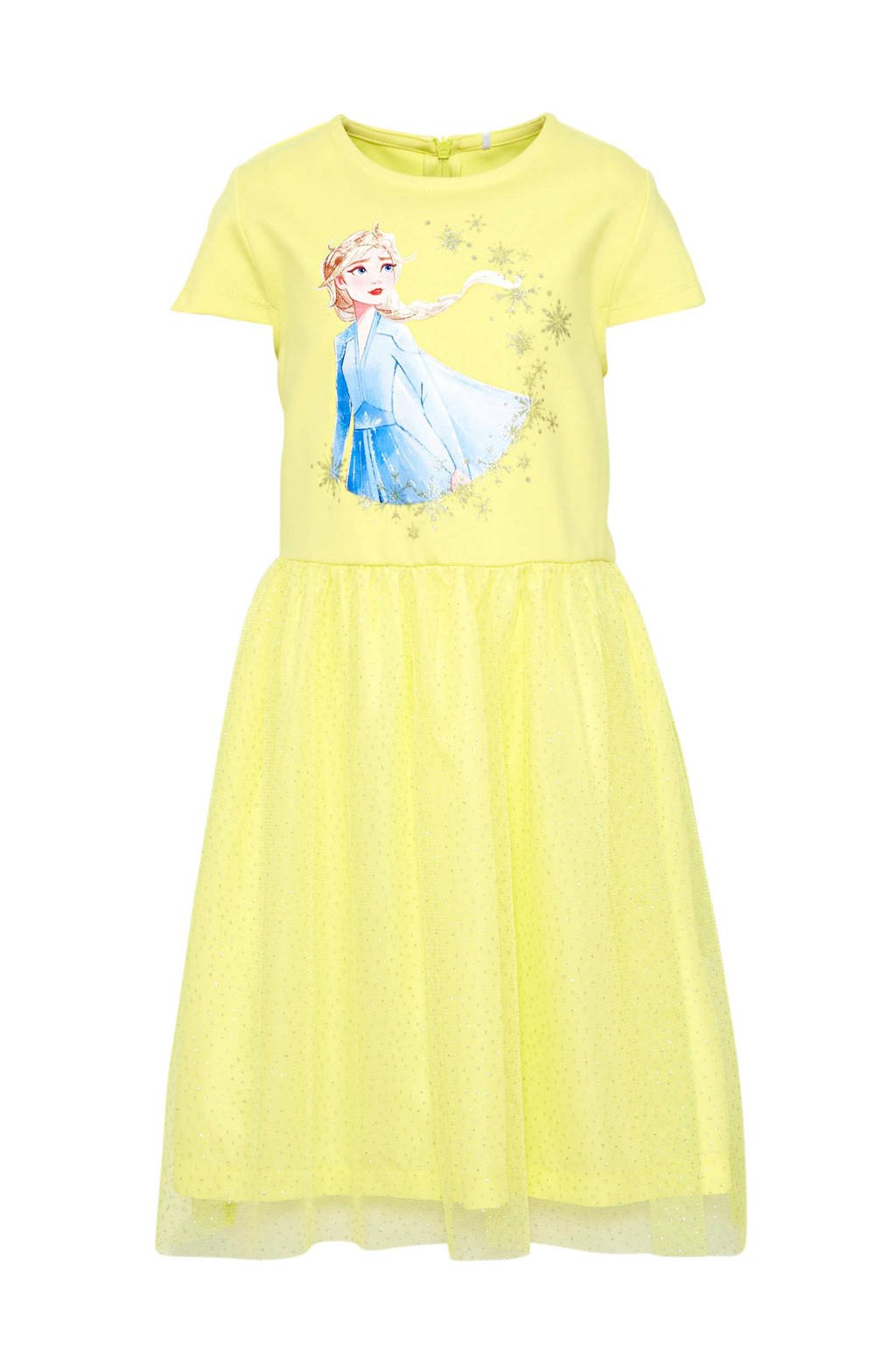 NAME IT MINI Frozen Sister Forever jurk met printopdruk geel, Geel