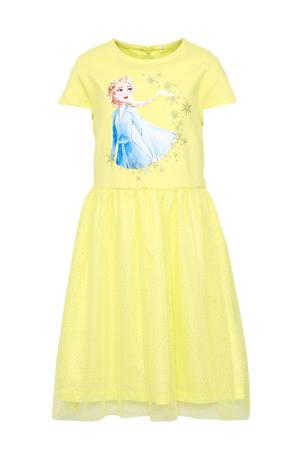 Frozen Sister Forever jurk met printopdruk geel