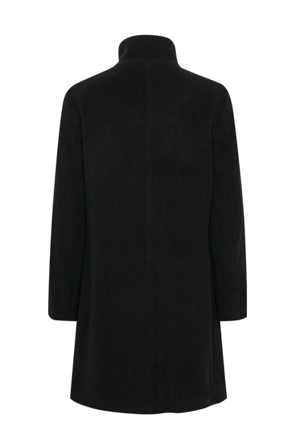Part Two coat IsabellasPW OTW met wol zwart, Zwart
