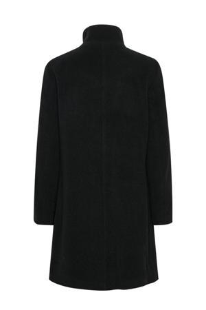 coat IsabellasPW OTW met wol zwart
