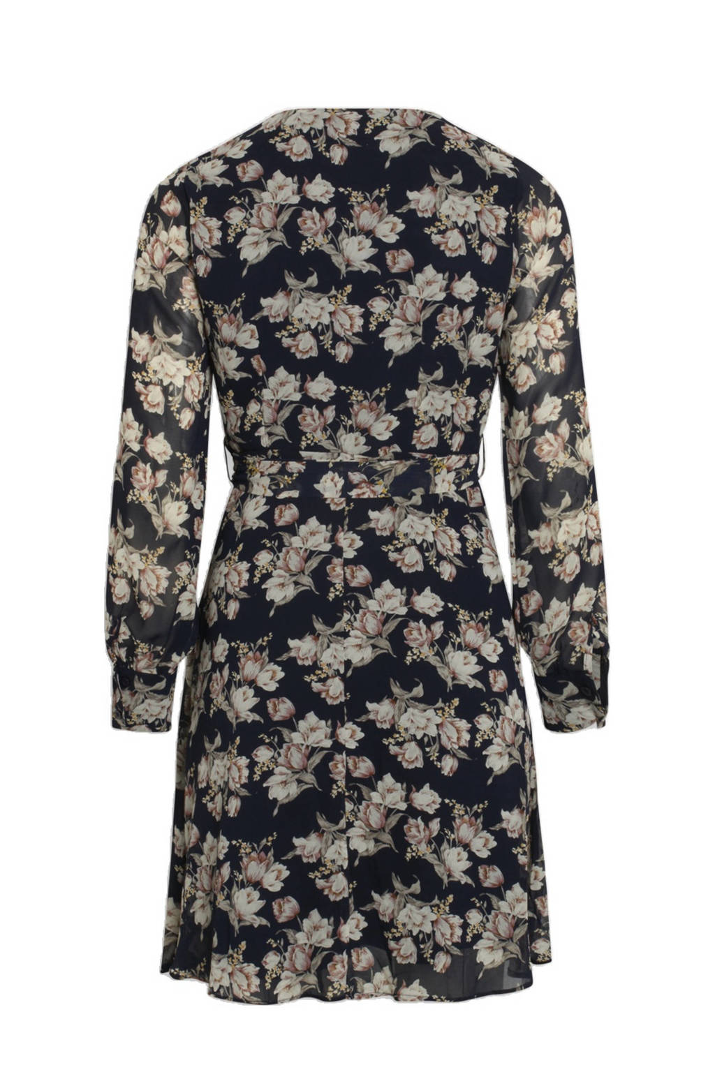 SisterS Point jurk met all over print donkerblauw, Donkerblauw