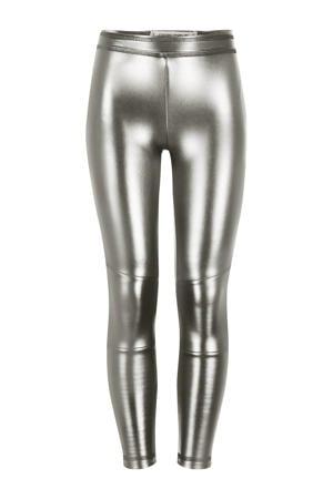 imitatieleren legging Paris metalic zilver