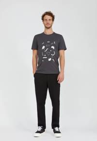 ARMEDANGELS T-shirt met printopdruk antraciet, Antraciet