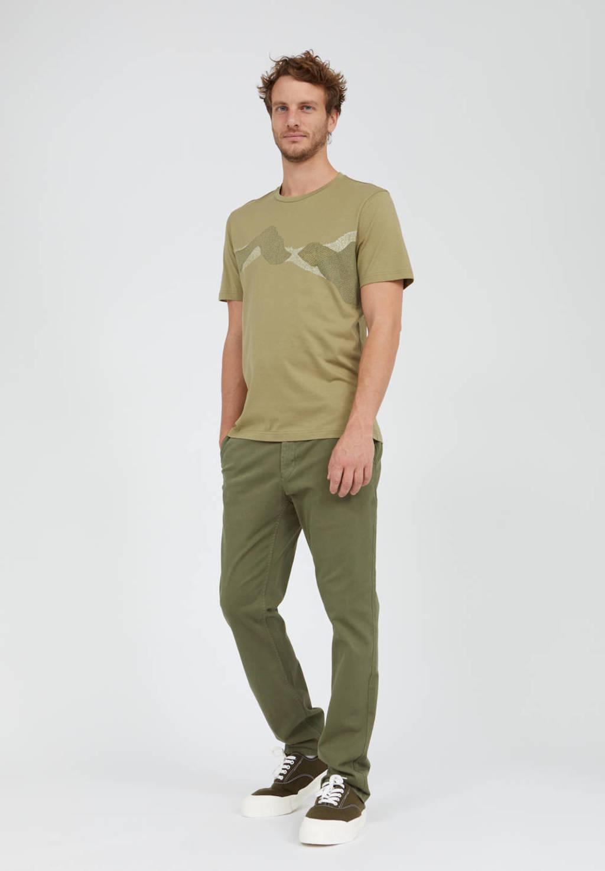ARMEDANGELS T-shirt met printopdruk kaki, Kaki