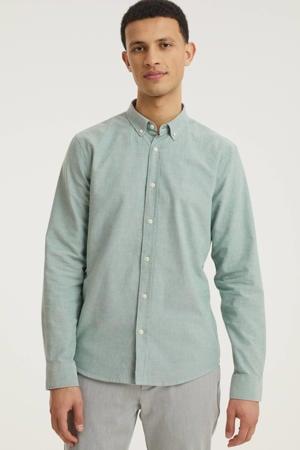 regular fit overhemd Quaasi lichtgroen