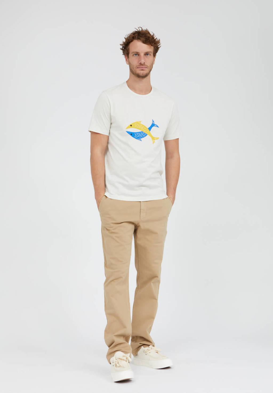 ARMEDANGELS T-shirt met printopdruk ecru, Ecru