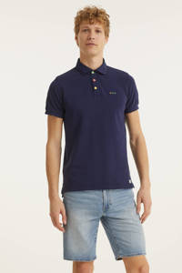New Zealand Auckland regular fit polo donkerblauw, Donkerblauw