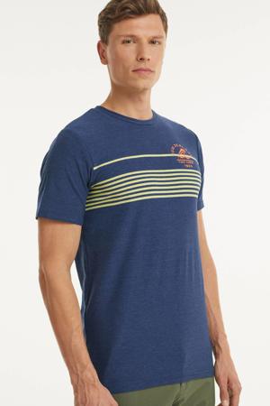 T-shirt Fernside met printopdruk blauw