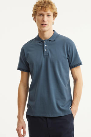 regular fit polo jeansblauw