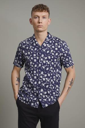 regular fit overhemd Matrostol resort 2 met all over print blauw