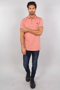 GABBIANO regular fit polo met contrastbies oudroze, Oudroze