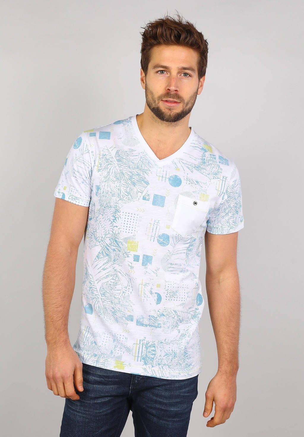 GABBIANO T-shirt met all over print lichtblauw/wit, Lichtblauw/wit