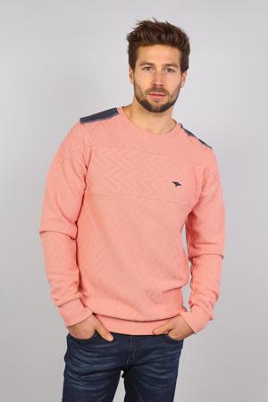 sweater met textuur zalmroze