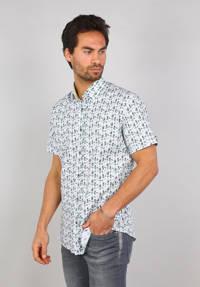 GABBIANO regular fit overhemd met all over print wit/blauw/groen, Wit/blauw/groen