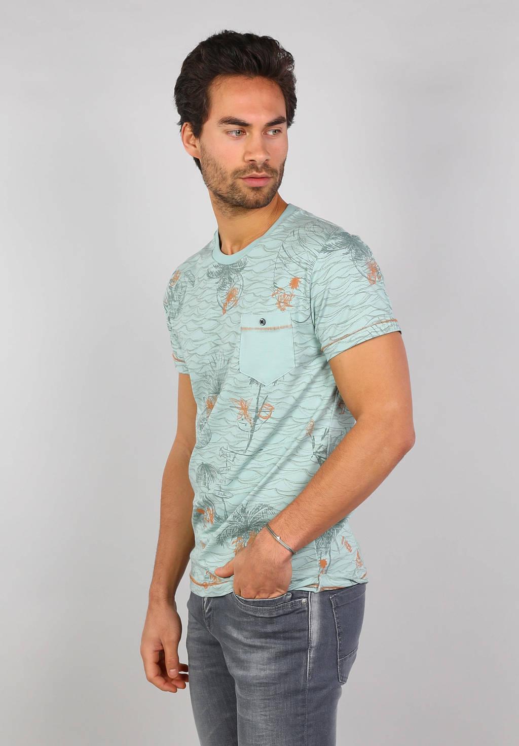 GABBIANO T-shirt met all over print mintgroen, Mintgroen
