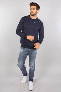 GABBIANO sweater met all over print donkerblauw, Donkerblauw