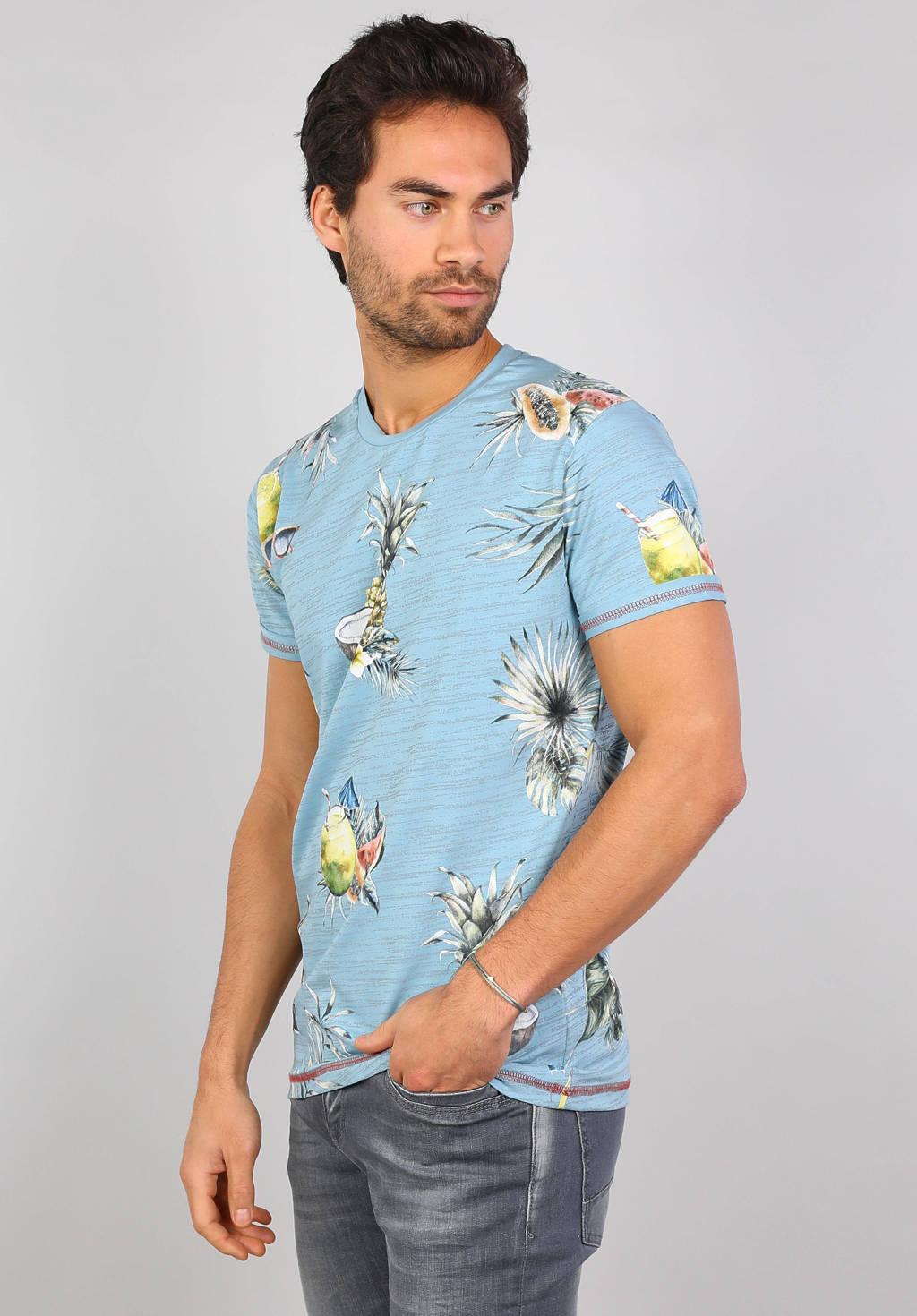 GABBIANO T-shirt met all over print lichtblauw, Lichtblauw