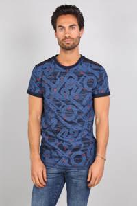 GABBIANO T-shirt met all over print blauw, Blauw