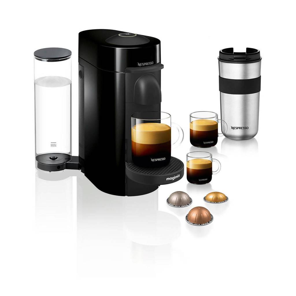 Magimix Nespresso VertuoPlus koffieapparaat (zwart), Zwart