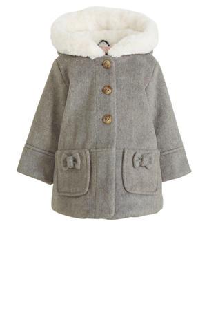 licht gewatteerde jas grijs