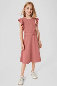C&A jurk met ruches oudroze, Oudroze