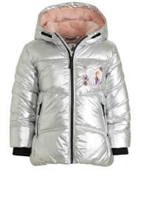 C&A gewatteerde winterjas met printopdruk zilver, Zilver