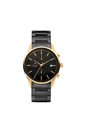 Primrose Hill horloge SL1100030 zwart/goud