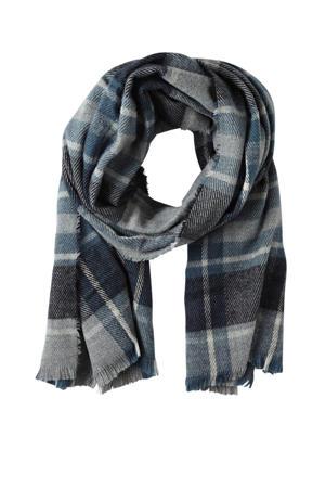 sjaal denim blauw