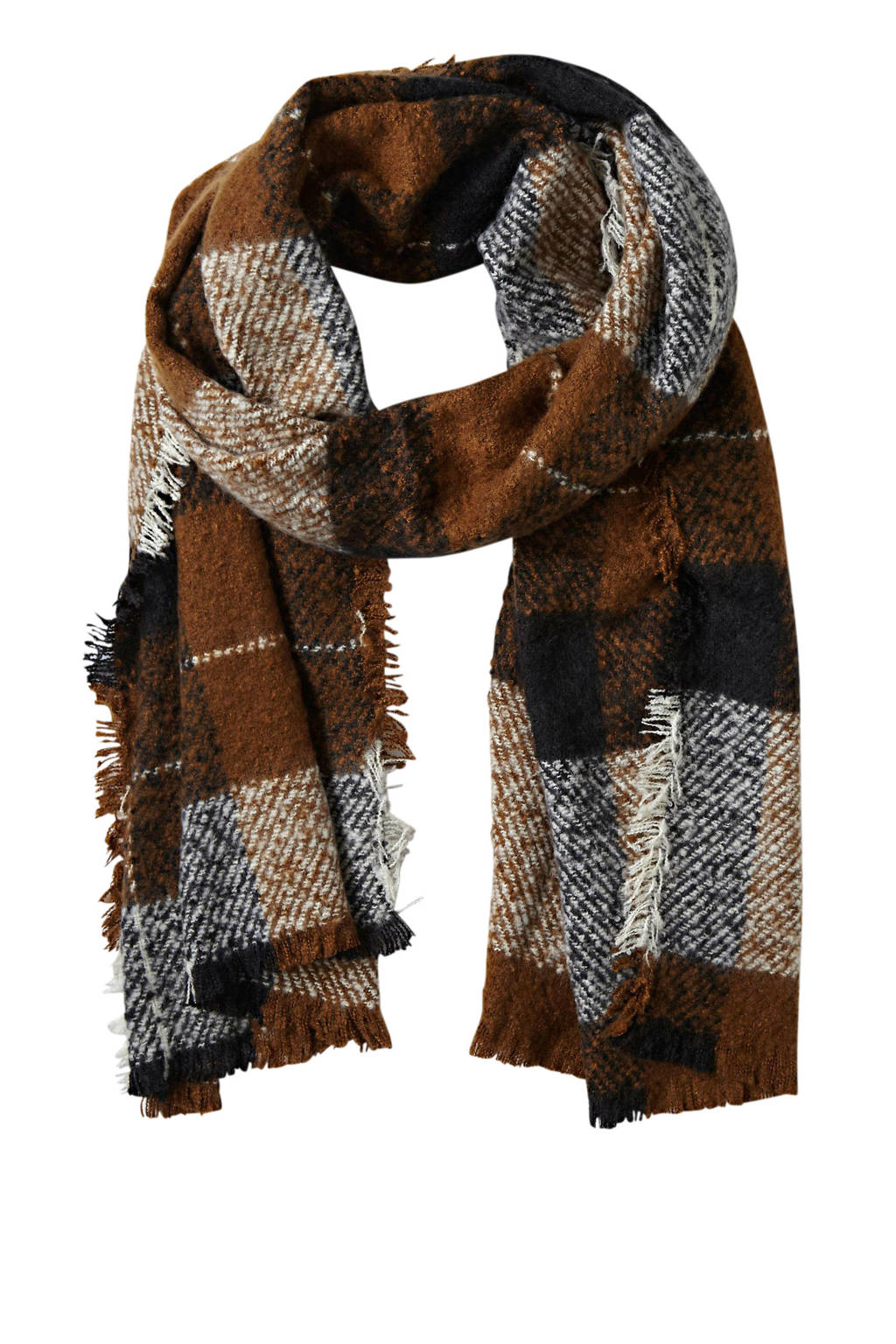 Sarlini geruite sjaal bruin, Bruin
