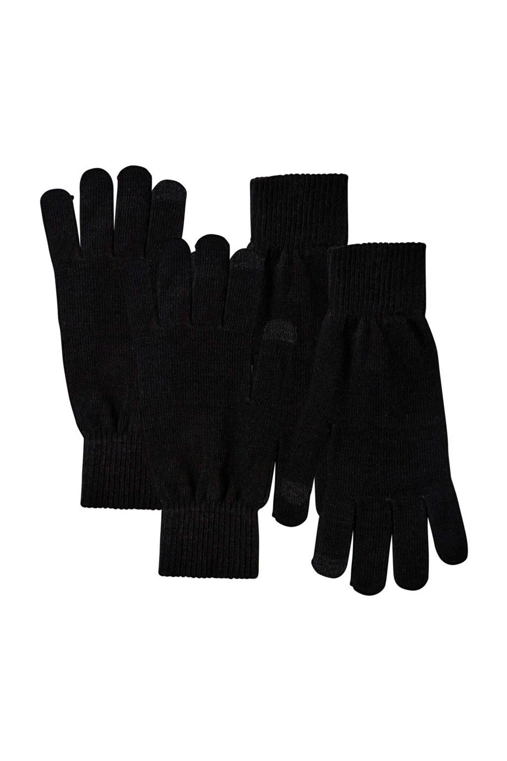 Sarlini handschoenen - set van 2 zwart, Zwart