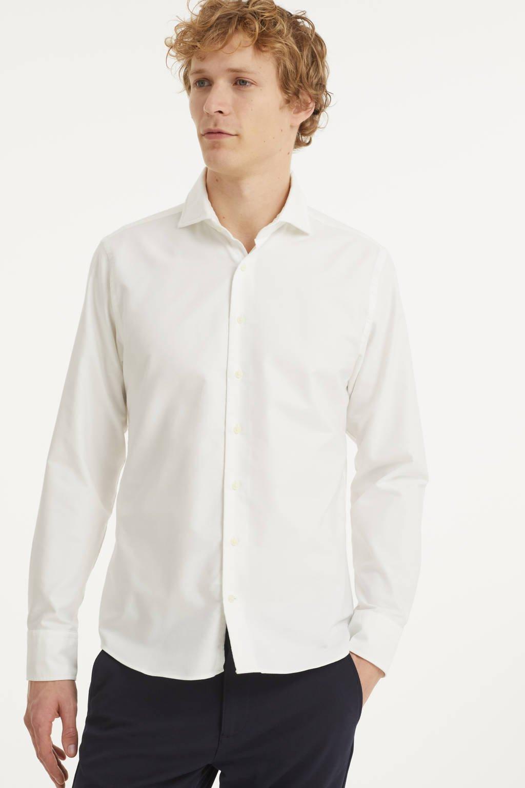 Michaelis slim fit overhemd wit, Wit