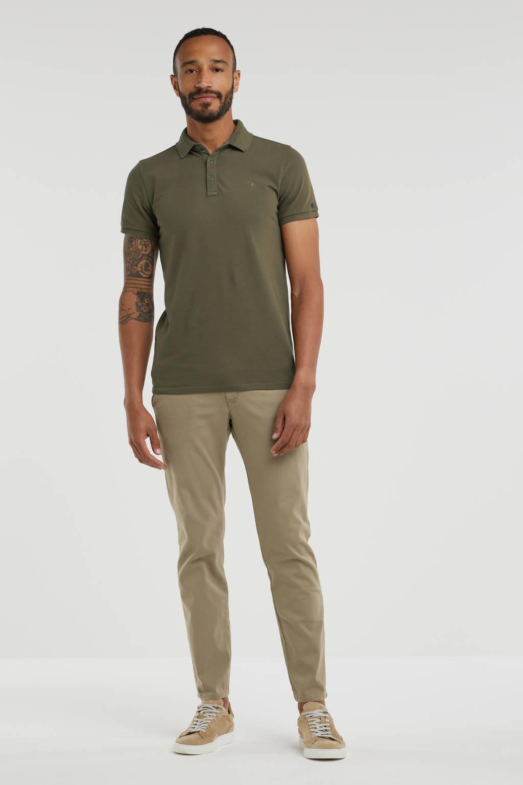 MAC slim fit chino Lennox military beige, Military beige