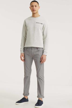 straight fit broek Arne Yarn Dyed platinum grey