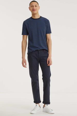 straight fit broek Arne Yarn Dyed nautic blue
