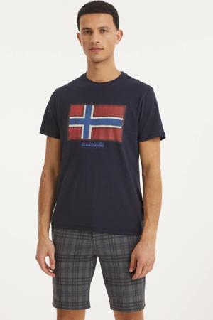 T-shirt met logo donkerblauw
