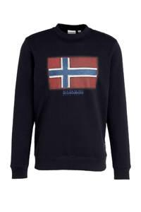 Napapijri sweater met logo donkerblauw, Donkerblauw