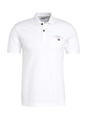 regular fit polo Elbas wit