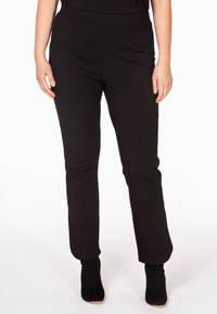 Yoek straight fit broek zwart, Zwart