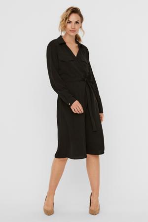 blousejurk VMLOLENA van gerecycled polyester zwart