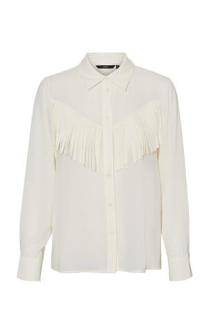 blouse VMLYSA met franjes wit
