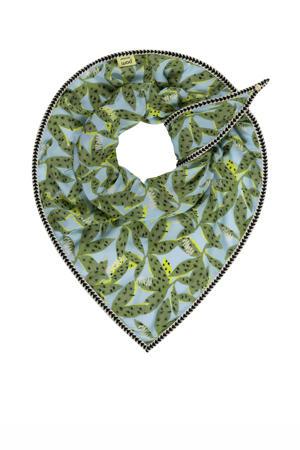 sjaal Cheetah Leaves blauw/groen