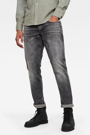 3301 tapered fit jeans grijs